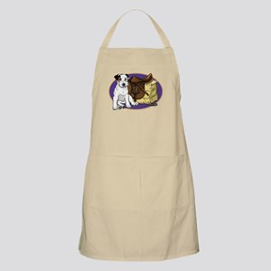 Russell Terrier with Purple Background Apron