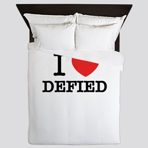 I Love DEFIED Queen Duvet