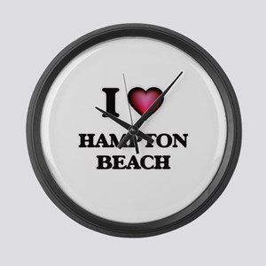 I love Hampton Beach New Hampshir Large Wall Clock