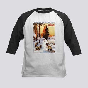 Vosges, France - Sledding & Skiing Baseball Jersey