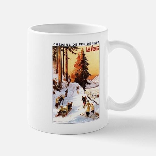 Vosges, France - Sledding & Skiing Mugs