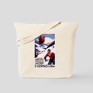 St Gervais-Les-Bains, France - Vintage Poster Tote
