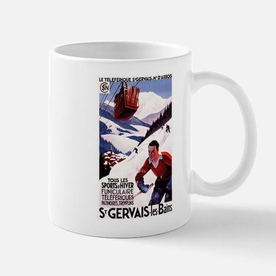 St Gervais-Les-Bains, France - Vintage Poster Mugs