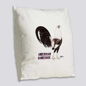 Gamecock Sepia Burlap Throw Pillow