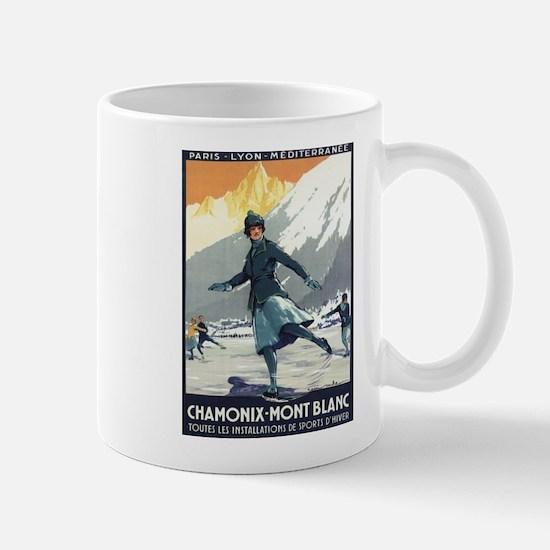 Chamonix Mont-Blanc, France - Ice Skating Mugs