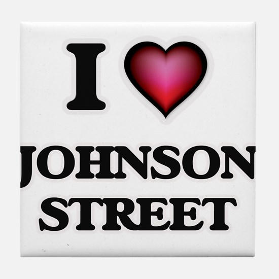 I love Johnson Street Massachusetts Tile Coaster