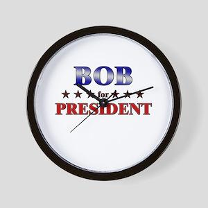 BOB for president Wall Clock