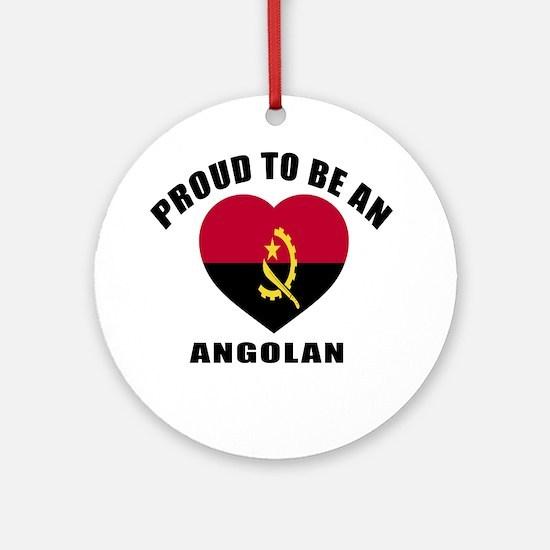 Angolan Patriotic Designs Round Ornament