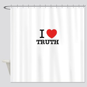 I Love TRUTH Shower Curtain