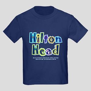Hilton Head Type - Kids Dark T-Shirt