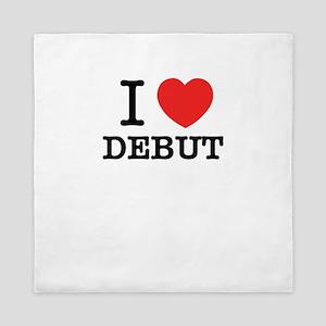 I Love DEBUT Queen Duvet