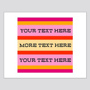 Personalized Candy Stripes Small Poster