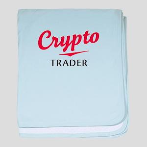Crypto Trader baby blanket