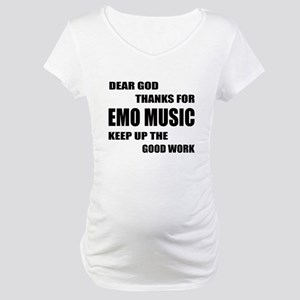 Dear God Thanks For Emo Maternity T-Shirt
