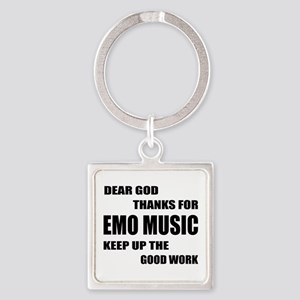 Dear God Thanks For Emo Square Keychain