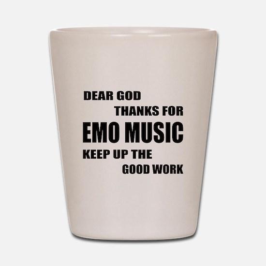 Dear God Thanks For Emo Shot Glass