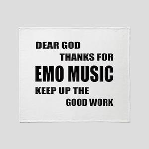 Dear God Thanks For Emo Throw Blanket
