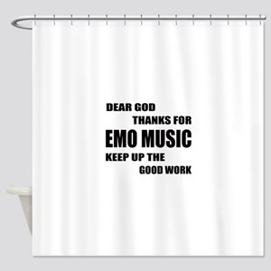 Dear God Thanks For Emo Shower Curtain
