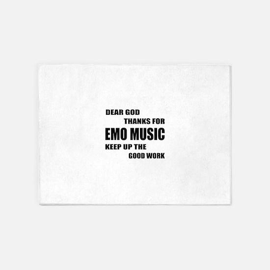 Dear God Thanks For Emo 5'x7'Area Rug