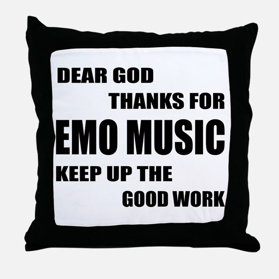 Dear God Thanks For Emo Throw Pillow