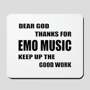 Dear God Thanks For Emo Mousepad