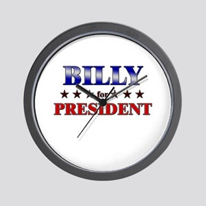 BILLY for president Wall Clock