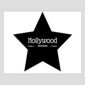 Hollywood California Black Star Posters