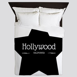 Hollywood California Black Star Queen Duvet