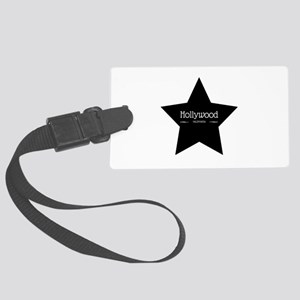 Hollywood California Black Star Luggage Tag