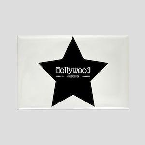 Hollywood California Black Star Magnets