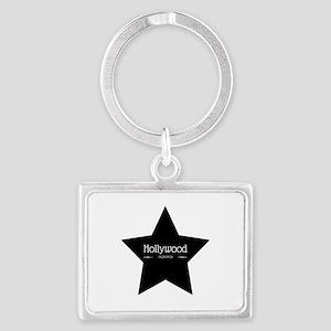 Hollywood California Black Star Keychains