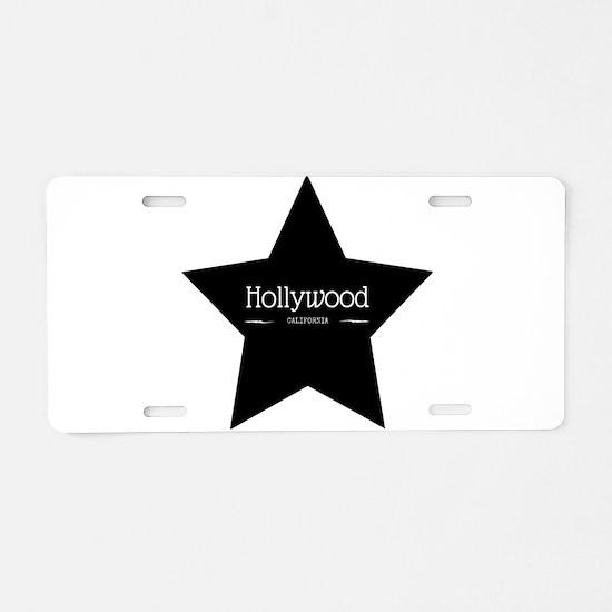 Hollywood California Black Star Aluminum License P
