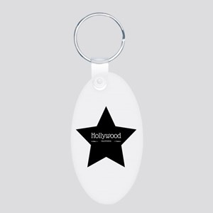 Hollywood California Black Star Keychains
