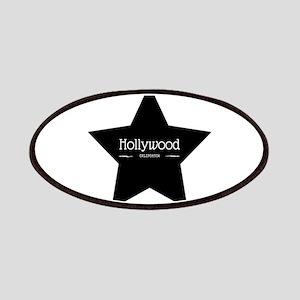 Hollywood California Black Star Patch