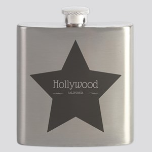 Hollywood California Black Star Flask