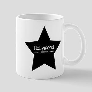 Hollywood California Black Star Mugs