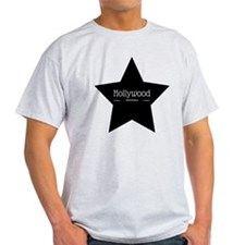 Hollywood California Black Star T-Shirt