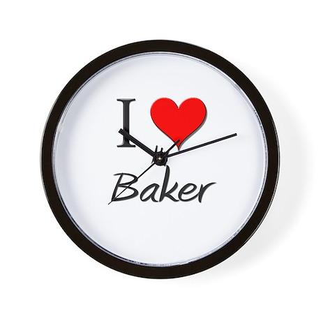 I Love My Baker Wall Clock