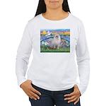 Lilies / Ragdoll Women's Long Sleeve T-Shirt