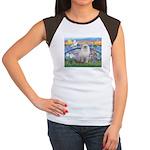 Lilies / Ragdoll Women's Cap Sleeve T-Shirt
