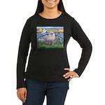Lilies / Ragdoll Women's Long Sleeve Dark T-Shirt