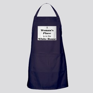 A Woman's Place is in the White House Apron (dark)