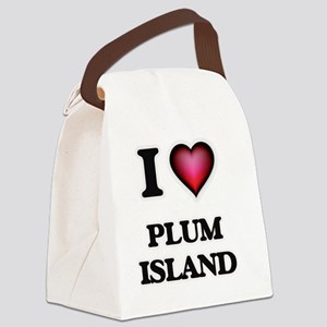 I love Plum Island Massachusetts Canvas Lunch Bag