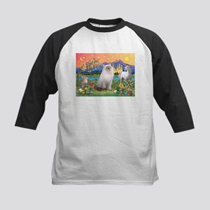 Fantasy Land / Ragdoll Cat Kids Baseball Jersey