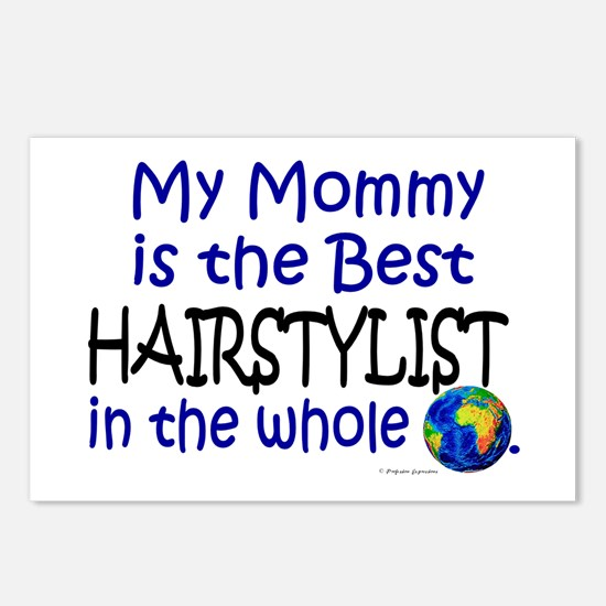 Best Hairstylist In The World (Mommy) Postcards (P