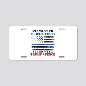 Stand With Police Donald Tr Aluminum License Plate