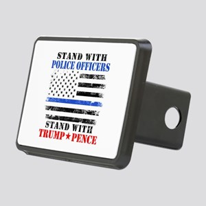 Stand With Police Donald T Rectangular Hitch Cover