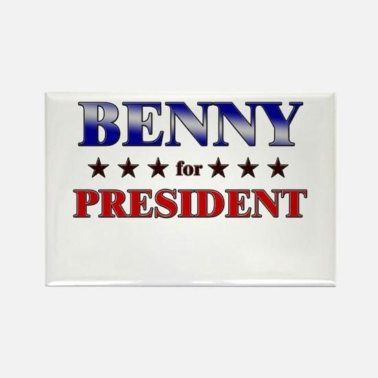 BENNY for president Rectangle Magnet