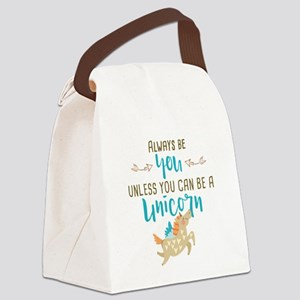 Always Be Unicorn Canvas Lunch Bag