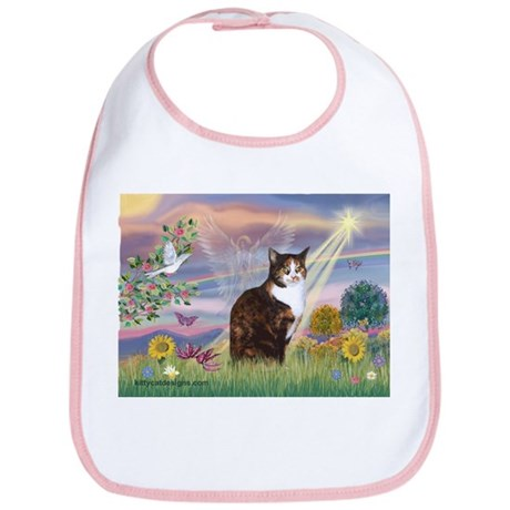 Cloud Angel / Calico Cat Bib